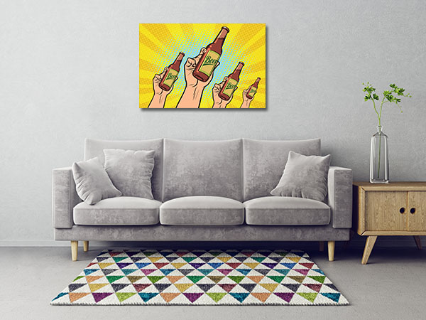 Beer Bottles Wall Art