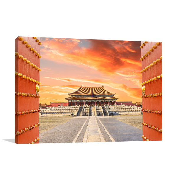 Beijing Art Print Forbidden City Artwork Wall