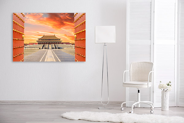 Beijing Art Print Forbidden City Canvas Artwork