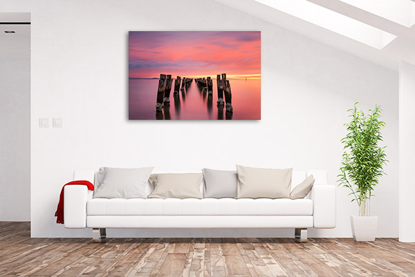 Bellarine Peninsula Canvas Print Jetty at Dusk Picture Artwork