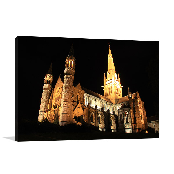 Bendigo Canvas Print Sacred Heart Church Artwork Picture