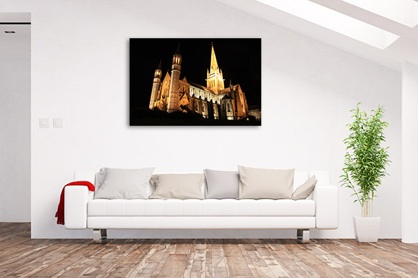 Bendigo Canvas Print Sacred Heart Church Photo Artwork