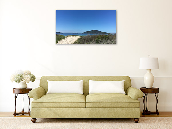 Bennetts Beach Art Print Hawks Nest Artwork Picture