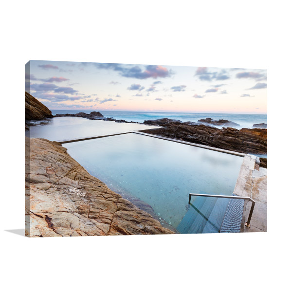 Bermagui Wall Print NSW Blue Pool Photo Canvas