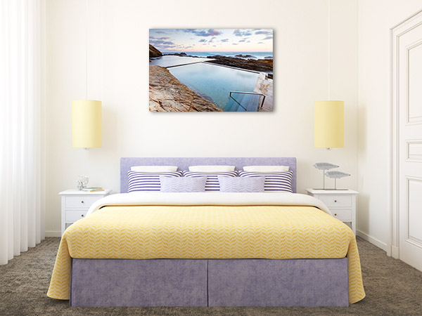 Bermagui Wall Print NSW Blue Pool Canvas Artwork