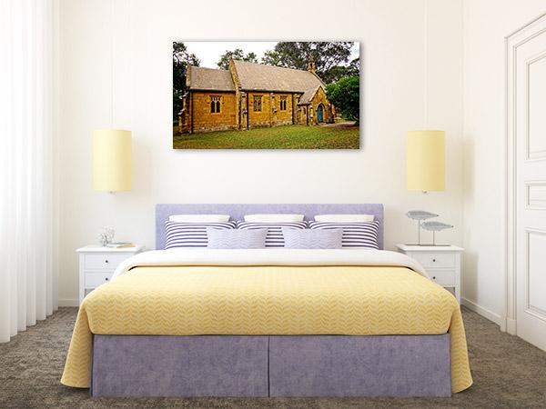 Berrima Art Print NSW Old Stone Church Photo Canvas