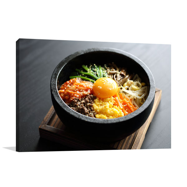 Bibimbap Print Artwork Photograph