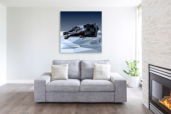 Black Panther Vector Canvas Wall