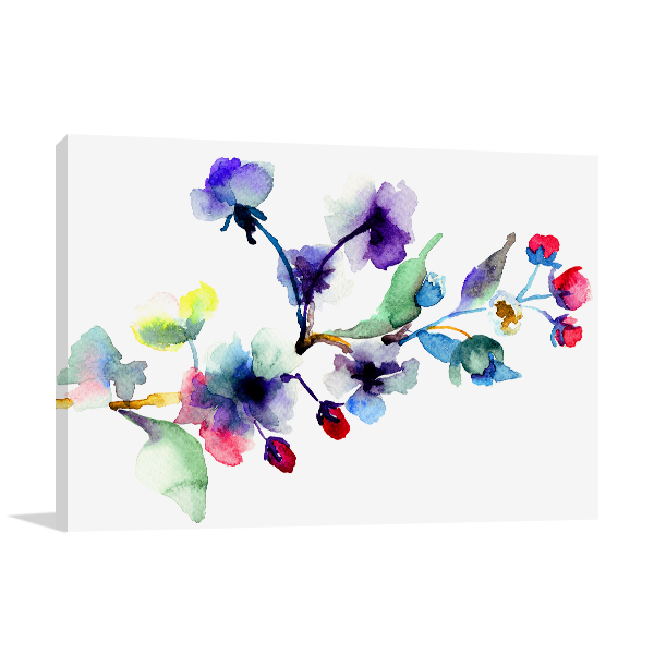 Blossoming Tree Branch Print Artwork