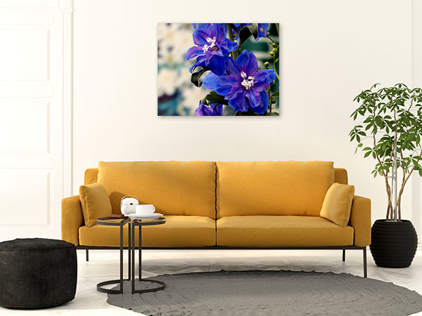 Blue Delphinium Wall Art Print