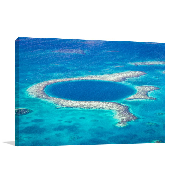 Blue Hole Belize Prints Canvas