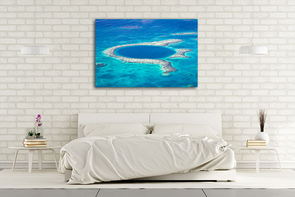 Blue Hole Belize Canvas Wall Art