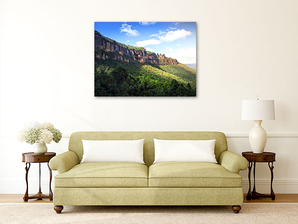 Blue Mountains Wall Art Print Katoomba Picture Canvas