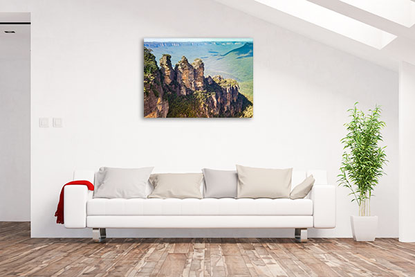 Blue Mountains Wall Art Print Three Sisters Artwork Picture