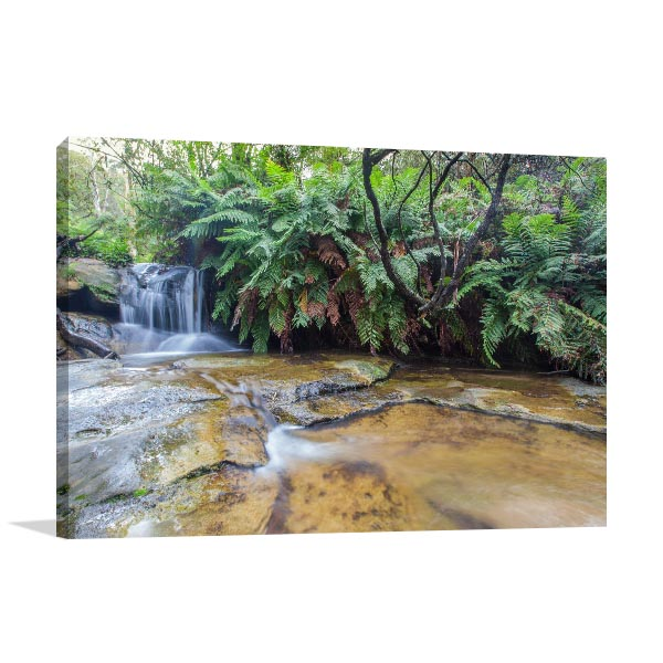 Blue Mountains Wall Print Leura Falls Art Picture