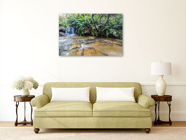 Blue Mountains Wall Print Leura Falls Picture Art