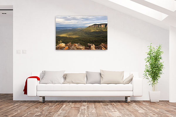 Blue Mountains Wall Print Megalong Valley Canvas Art