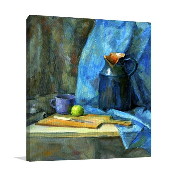 Blue Vase Wall Art Print