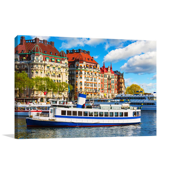 Boat at Gamla Stan Print Wall Art