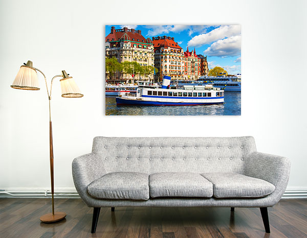 Boat at Gamla Stan Art Prints