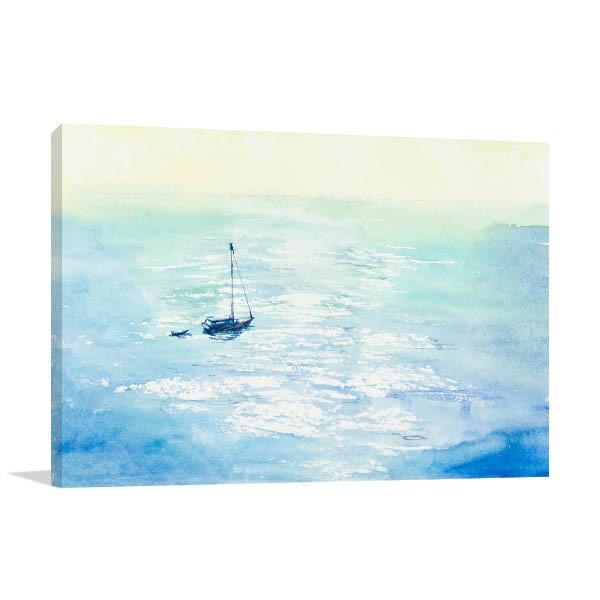 Boat at the Sea Canvas Prints