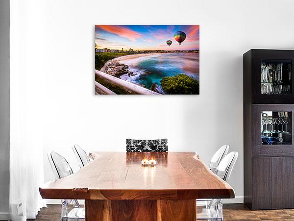Bondi Beach Art Print Hot Air Balloon Print Photo Art