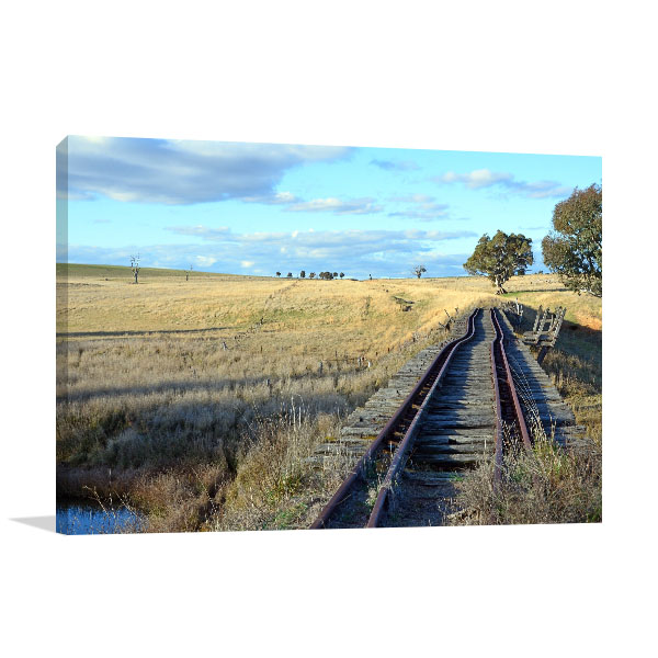 Boorowa River Art Print NSW Abandoned Railway Photo Wall