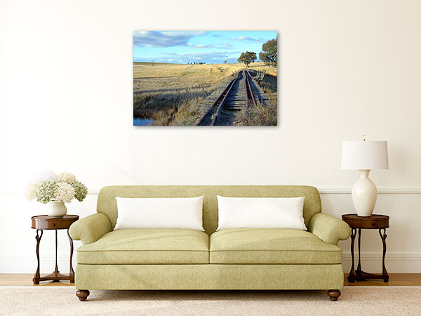 Boorowa River Art Print NSW Abandoned Railway Artwork Canvas