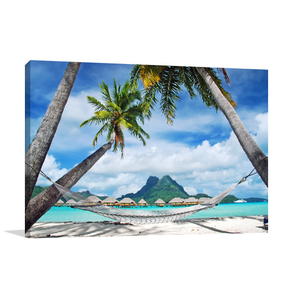 Bora Bora Canvas Wall