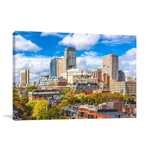Boston Art Print Skyline Photo Wall