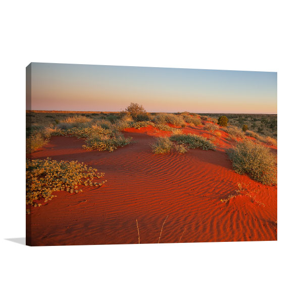 Boulia Wall Print Red Sand Dunes Canvas Art