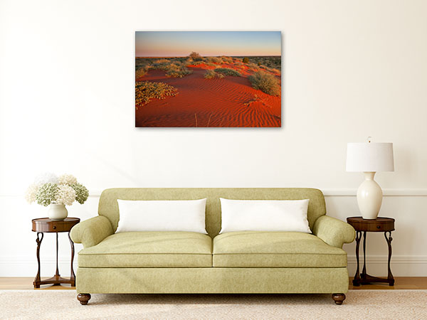Boulia Wall Print Red Sand Dunes Art Picture