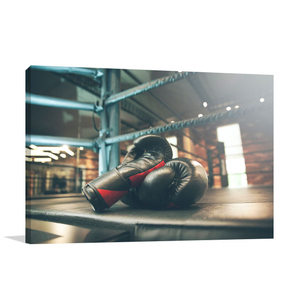 Boxing Gloves Art Print on Ring Artwork Picture