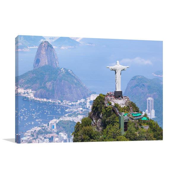 Brazil Art Print Christ the Redeemer Picture Artwork