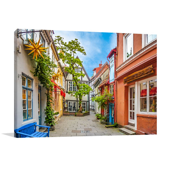 Bremen Art Print Colourful Houses Picture Wall