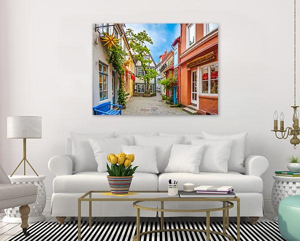 Bremen Art Print Colourful Houses Photo Artwork
