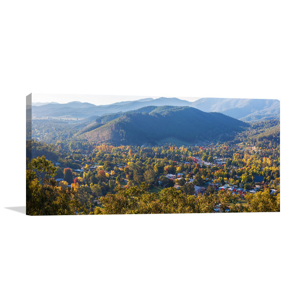 Bright VIC Canvas Print Aerial Wall Art