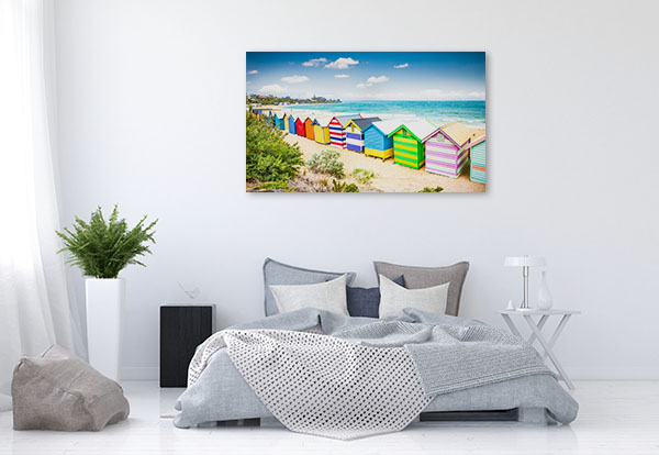 Brighton Beach Canvas Art Print Bathing House Photo Wall Arts
