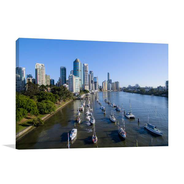 Brisbane Art Print Harbour Artwork Picture