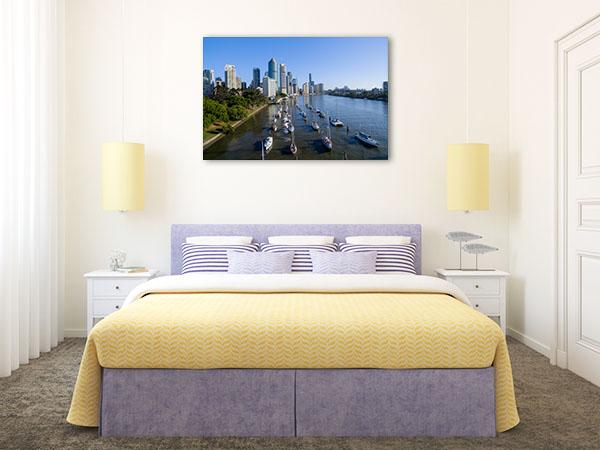 Brisbane Art Print Harbour Wall Artwork