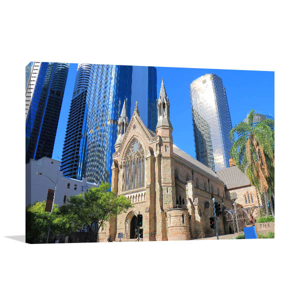 Brisbane Art Print St Stephens Cathedral Wall Picture
