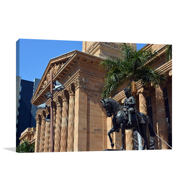 Brisbane Wall Print City Hall QLD Artwork Photo