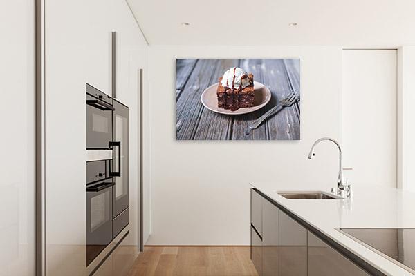 Brownie and Vanilla Ice Cream Wall Art