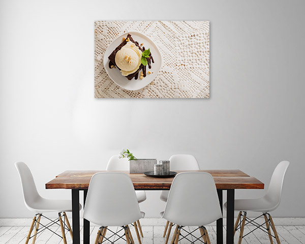Brownie and Vanilla Ice Cream Picture Print