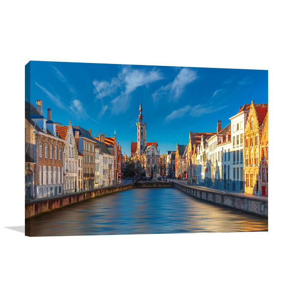 Bruges Art Print Belgium Artwork Canvas