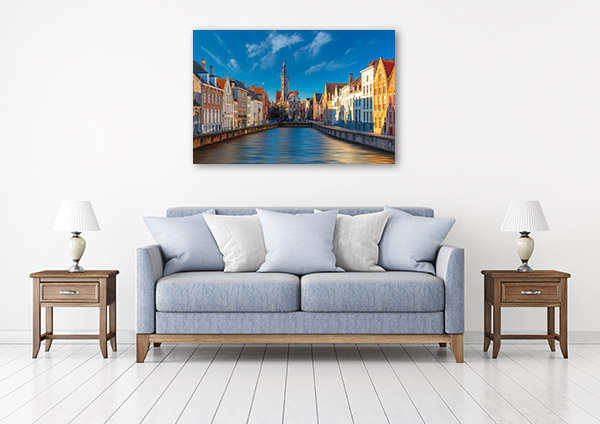 Bruges Art Print Belgium Canvas Artwork