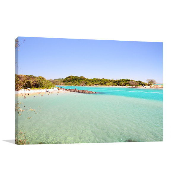 Brunswick Heads Wall Art Print NSW Beach Artwork Picture