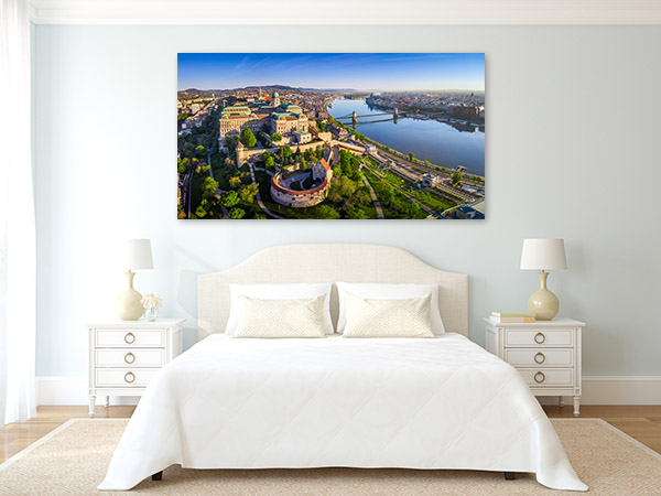 Buda Castle Art Print Aerial View Wall Canvas