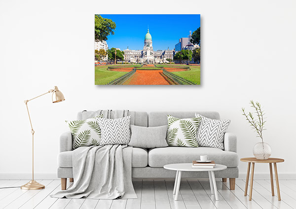 Buenos Aires Art Print Sunny Day Canvas Artwork