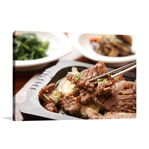 Bulgogi Art Print Closeup Photo Wall